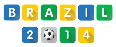 Brazil letter vector with shadow Иллюстрация