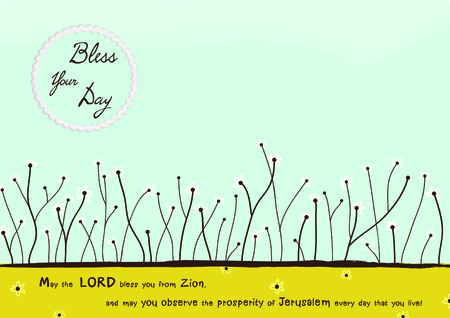 Blessing Christian card vector