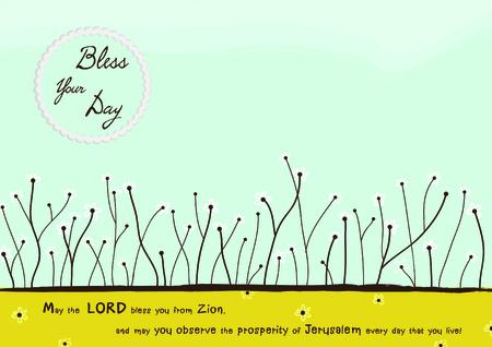 blessing: Blessing Christian card vector