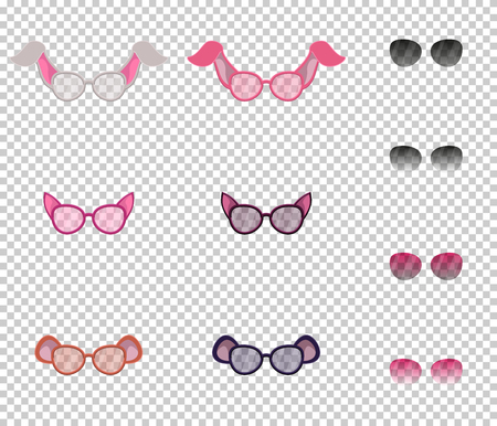 Beautiful glasses with ears of animals