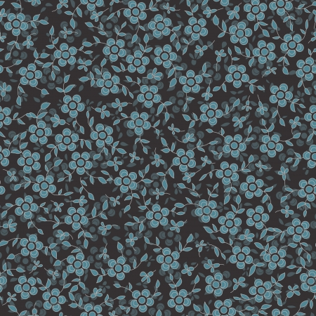 Seamless flower texture with a dark blue flowers on a dark background  Can be used as a wallpaper, pattern fill, surface texture  Can be used as a figure for tissue