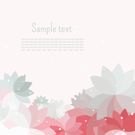 Postcard or a vignette for text with gray, pink, white petals abstract colors Stock Vector - 25167429