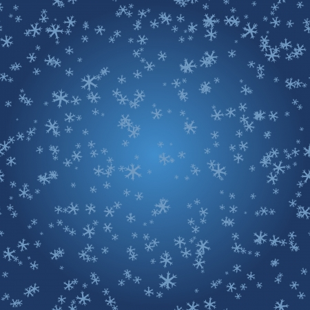 replication: Snowflakes on blue gradient