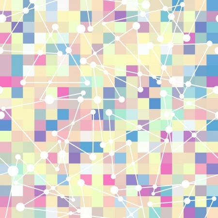 motif géométrique de carré de couleur et triangle