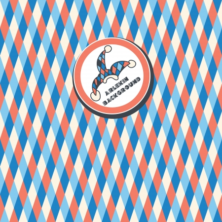seamless pattern of white, dark blue, red triangles on a white .Shortcut with the clown hat Vector