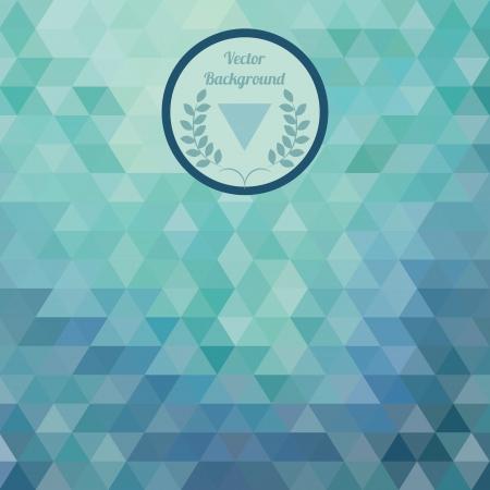Résumé fond bleu Un motif triangulaire