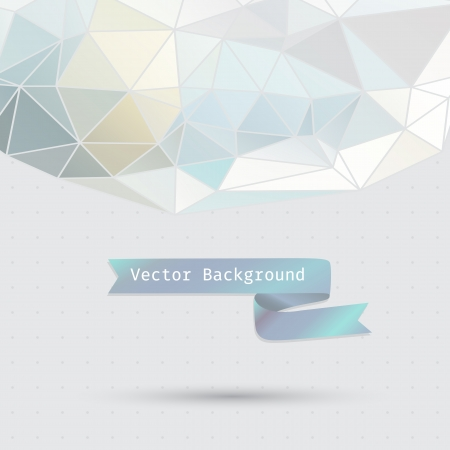 Abstract background of the triangle  Pastel cool color  Triangular form  Illustration