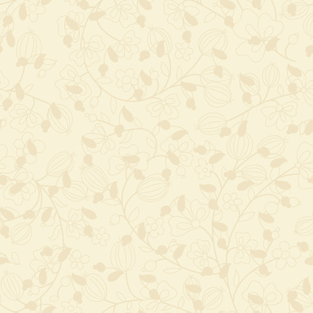 beige background with silhouettes of plants  Use as wallpaper or a neutral backdrop  seamless texture Vector
