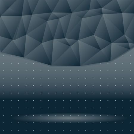 meshed: dark background of triangles in space  background with dots  shadow and light  spectacular backdrop  place your text on top