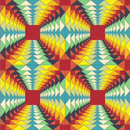 abstract colored geometric pattern  fractal illusion  colorful backdrop  seamless pattern  Vector