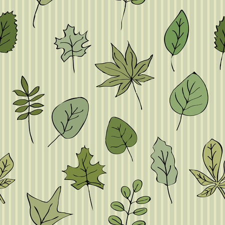 chlorophyll: Seamless texture pattern of green leaves striped background. Use as a pattern fill, backdrop, surface texture