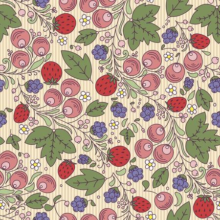 シームレスなテクスチャとイチゴ、ベリー、光 backgroundrry の葉、ベリー、明るい背景の葉します。パターンの塗りつぶしとして使用背景