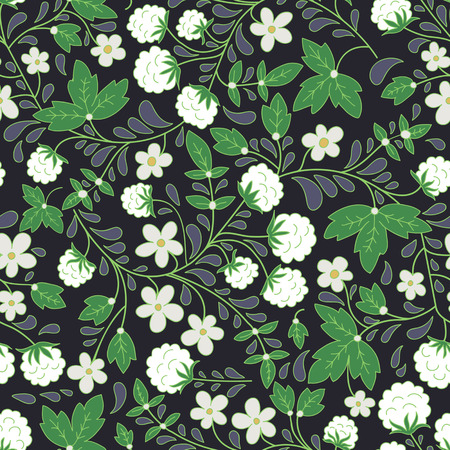seamless texture with white berries. dark background. white blackberry. Use as a pattern fill, backdrop, seamless texture. Illustration