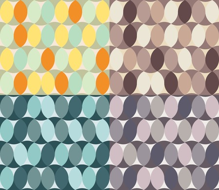 reiteration: abstract seamless textures in different colours. circle element. Use as a pattern fill, backdrop, surface texture.