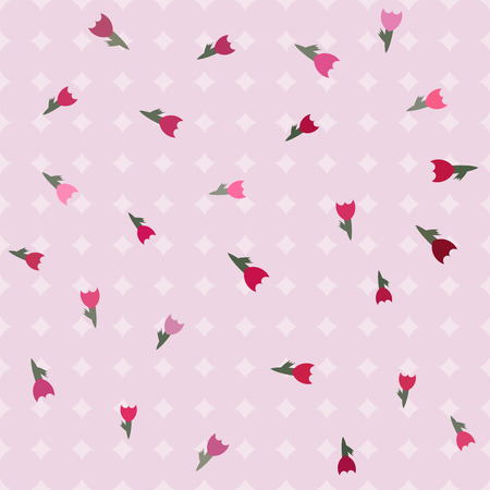 seamless pink texture tulips, Use as a pattern fill, backdrop, surface texture. Vector