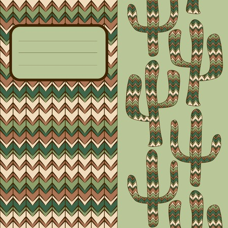 waterless: background pattern with cactus  Use as backdrop, greeting card