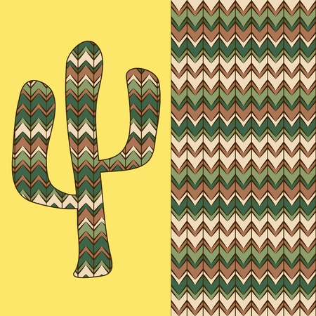 background pattern with cactus  Use as backdrop, greeting card Vector