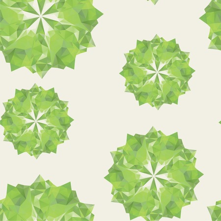 abstract with green geometric shapes  illusion crystals  Use as a backdrop, the fill pattern, seamless pattern  Vector