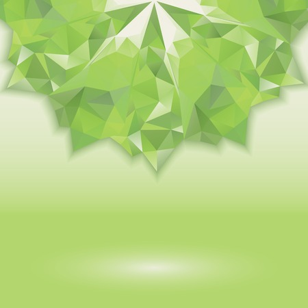 abstract with green geometric shapes  illusion crystals  Horizontal location of the figure  Place your own text Vector