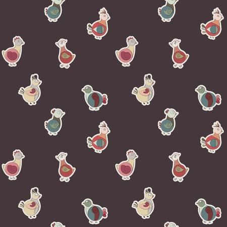 ethnics: uccelli Turchia Astratto e piccioni. piccole etnie. Utilizzare come un pattern di riempimento, seamless texture, carta da parati, fondale