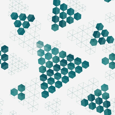 Geometric pattern of hexagons triangles. Full color seamless texture . Use as a banner , fill pattern , endless texture Vector
