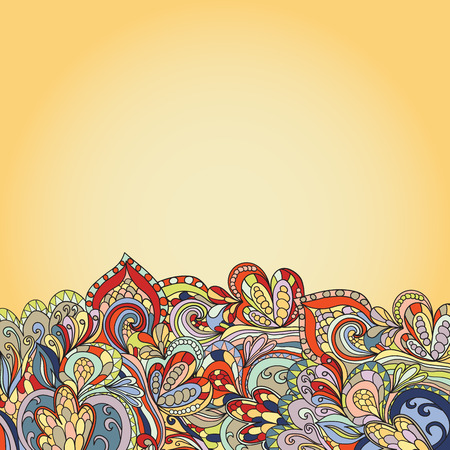 psychoanalysis: card with abstract hand-drawn waves pattern, wavy. Can be used for wallpaper, greeting card, web page.  Illustration
