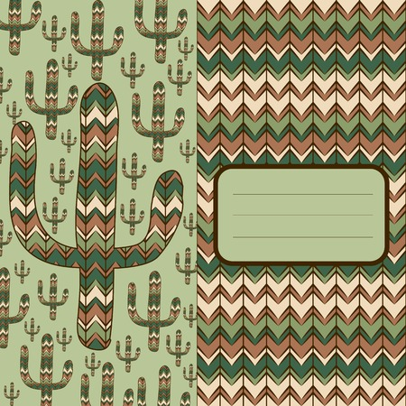 waterless: background pattern with cactus
