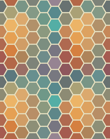 Colored seamless hexagon texture. Geometric pattern.  Vector