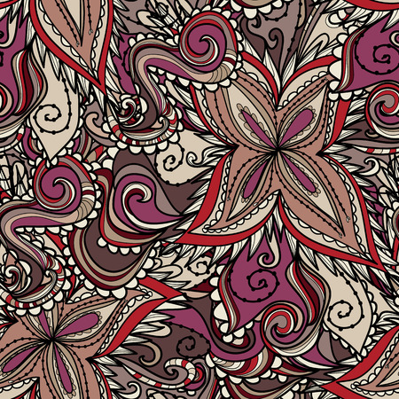 psychoanalysis: Seamless abstract hand-drawn texture. Bright pastel color. Endless floral pattern