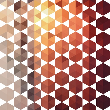 Retro pattern of geometric shapes. Colorful mosaic banner.  Vector