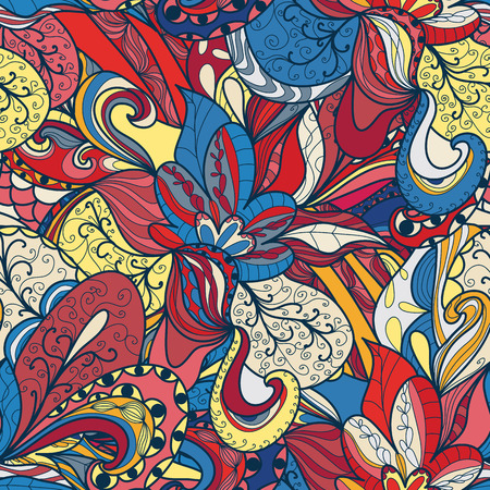 psychoanalysis: Seamless abstract hand-drawn texture