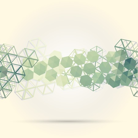 Abstract background with green hexagons. Use as backdrop. Place your text on the top Vector