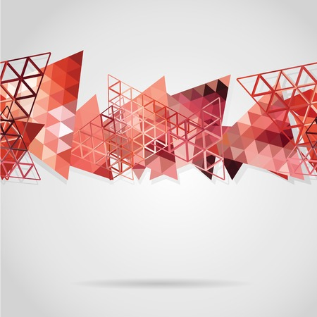Abstract background with red triangles. Use as backdrop. Place your text on the top Vector