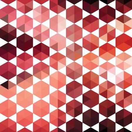 Motif de formes géométriques hexagone. Bannière mosaïque colorée. Géométrique hippie rétro fond avec la place pour votre texte. Retro triangle fond