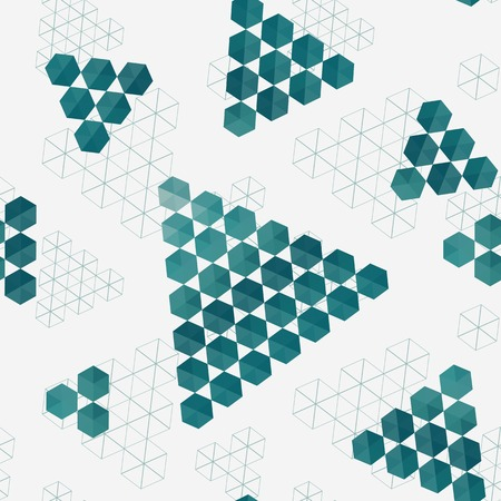 Geometric pattern of hexagons triangles.   Vector