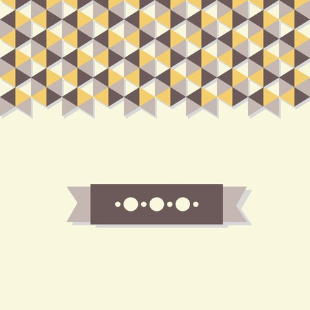 abstract background banner of hexagon.  Vector