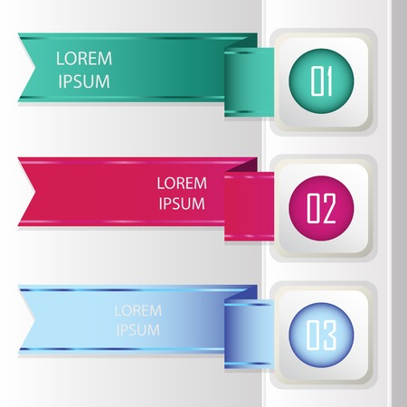 Colorful banners - ribbons. Elements  for infographics, graphic design or web banners Vector