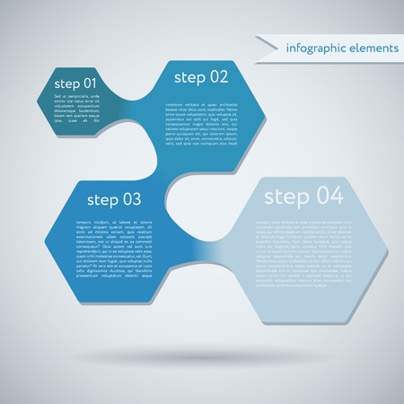 Hexagon Geometric Shape Infographic Design Template Vector