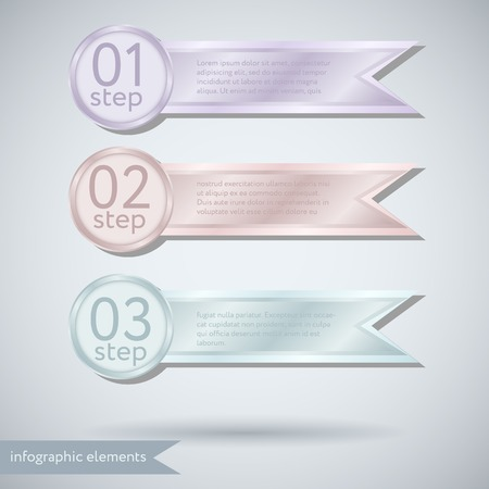 Infographic Concept with ribbons Vector