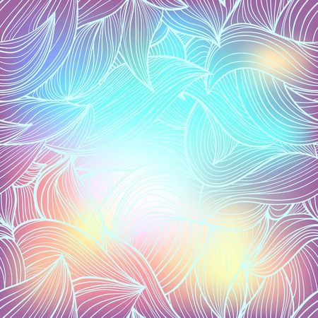 waves pattern: Seamless abstract hand-drawn waves pattern, wavy background Illustration