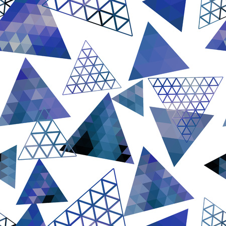 Retro pattern of geometric shapes triangles. Colorful mosaic backdrop. Geometric hipster retro background, place your text on the top. Triangle background. Vector