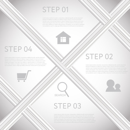 Abstract infographics number options template. Vector illustration. can be used for workflow layout, diagram, business step options, banner, web design Vector