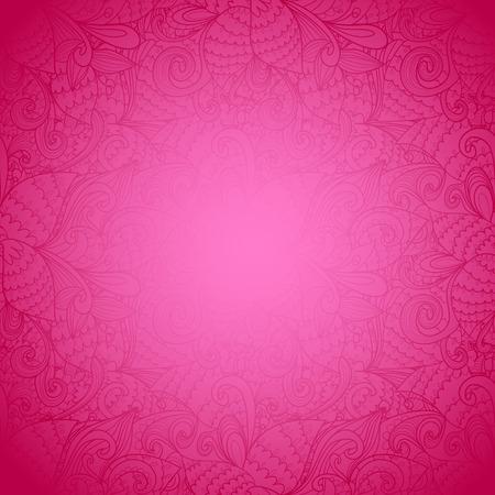 Seamless floral rosa abstrakten Hand gezeichnet Textur. Helle Farbe. Endless floralen Muster. Kann für Tapeten, Muster, Hintergrund, Oberflächen-Texturen verwendet werden. Farbe nahtlose floral background Vektorgrafik
