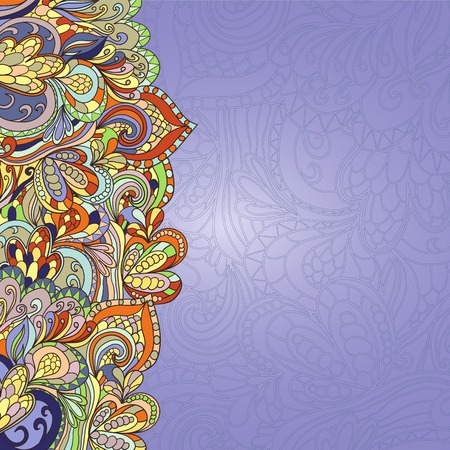 psychoanalysis: card with abstract hand-drawn waves pattern, wavy background. Can be used for wallpaper, greeting card, web page background. floral background