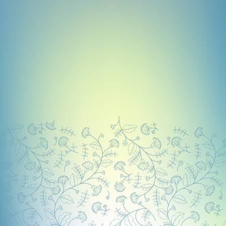 cornflower seamless border. Use as backdrop, greeting card Vector