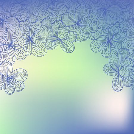 border with abstract hand-drawn floral pattern. Can be used for wallpaper, greeting card, web page background. Vector