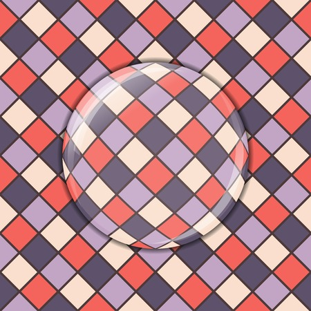 abstract mosaic background, seamless pattern, lens effect Vector