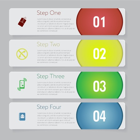 Design number banners template graphic or website layout. With icon