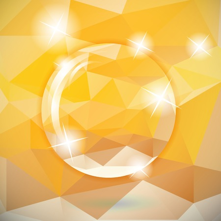 abstract triangle yellow background, lens circle effect