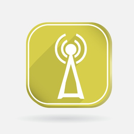 the tower of the wi-fi. Color square icon Vector